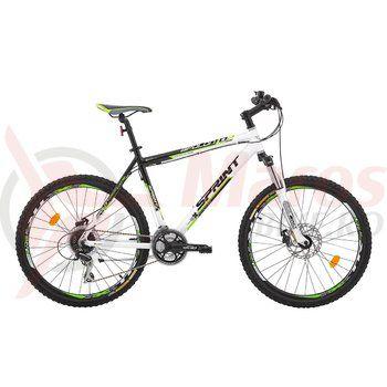 "Bicicleta Sprint Apolon MDB 26"" negru/alb/verde"