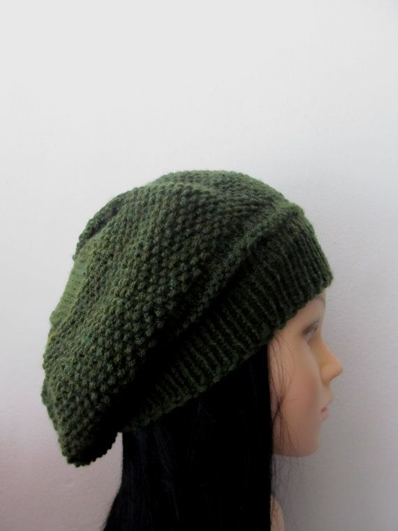 Check out this item in my Etsy shop https://www.etsy.com/listing/213511653/green-women-knitted-hat-beret-dark-green