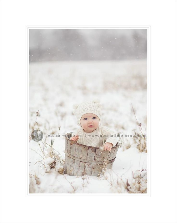 Cute winter baby