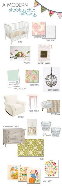 I'm taking some inspiration from this...love it all!Shabby Chic Room, Mood Boards, Shabby Chic Nurseries, Girl Nurseries, Colors Schemes, Baby Girls, Modern Shabby Chic, Girls Nurseries, Shabby Chic Baby Room