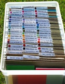 Great way to organize scrapbook paper!