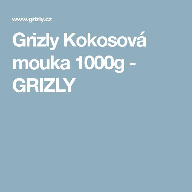 Grizly Kokosová mouka 1000g - GRIZLY