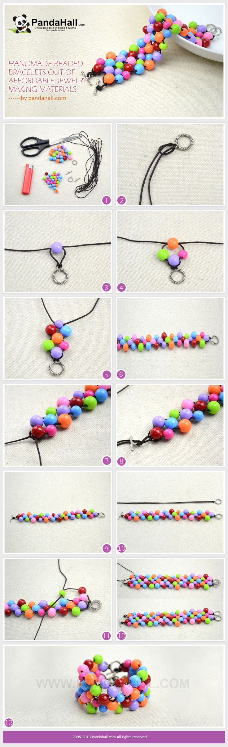 This post aims at demonstrating how you can make handmade beaded bracelets in a simple way while introducing some of inexpensive jewelry making materials into your crafts.