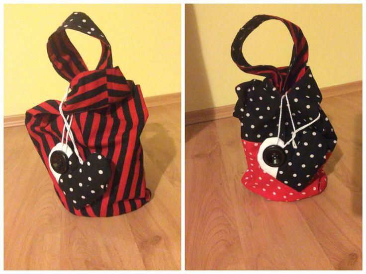 knot bag / reversible bag