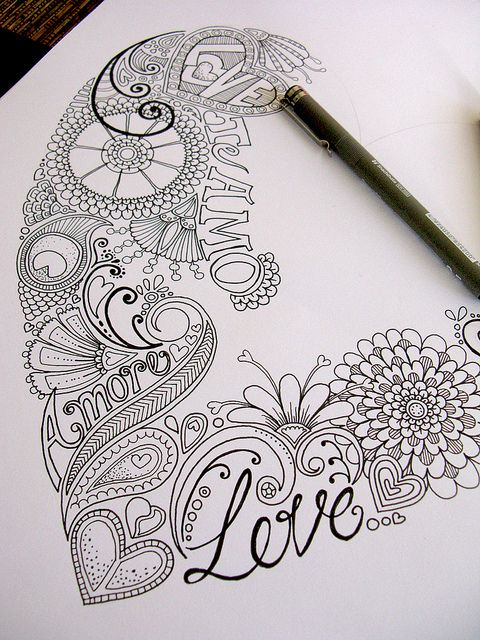 Love the doodles that everyone is calling zentangle now! They will always be doodles to me!