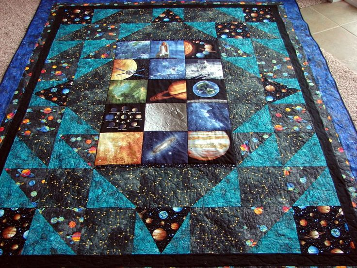 25 best images about space quilts on pinterest horns for Outer space quilt
