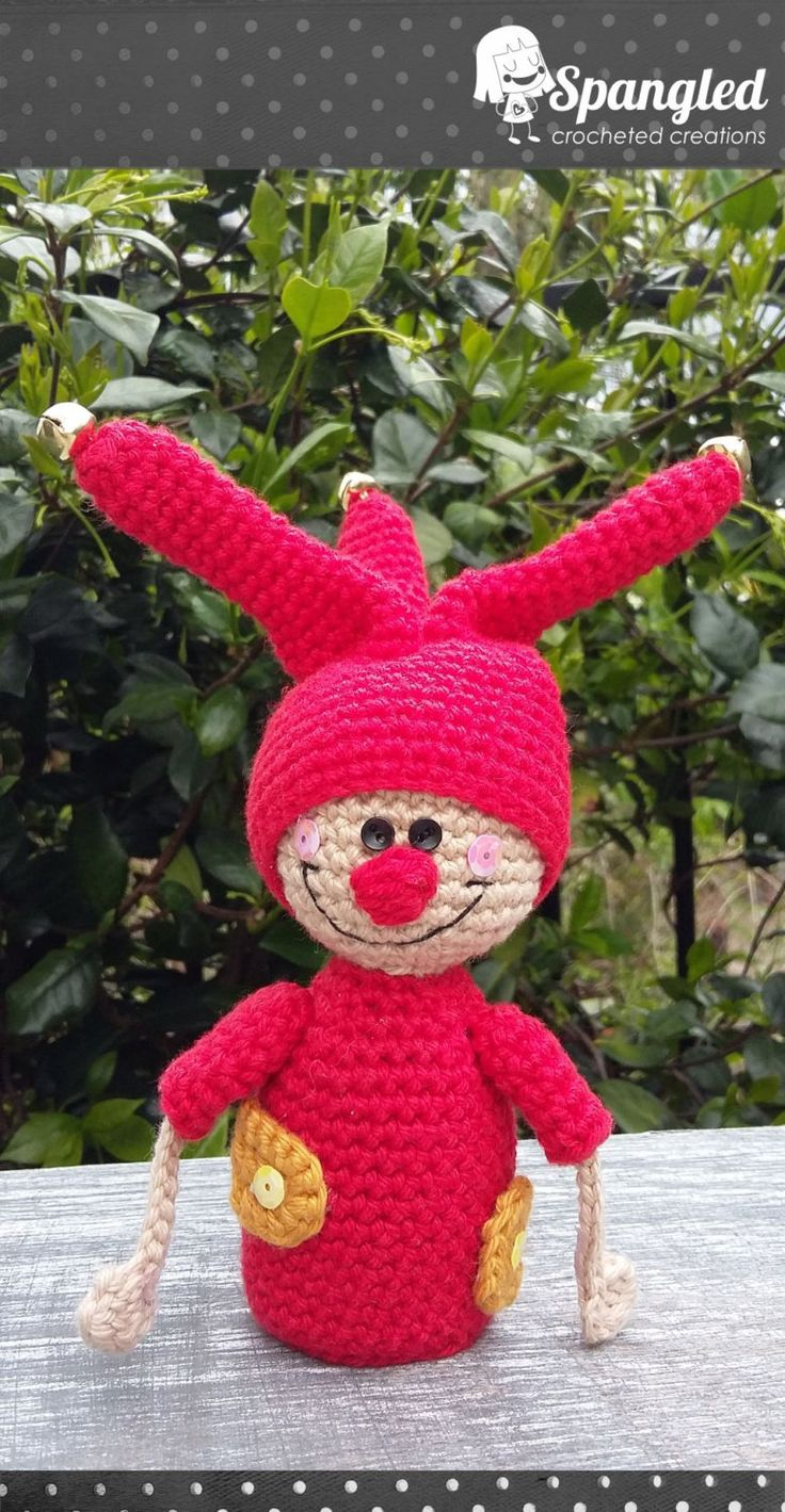 Happy Jester Amigurumi by SpangledCrochet on Etsy