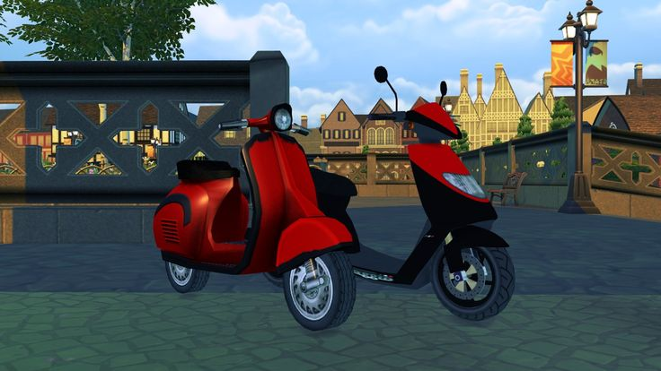 80 best sims 4 rockabilly images on pinterest rock style for Garage scooter paris