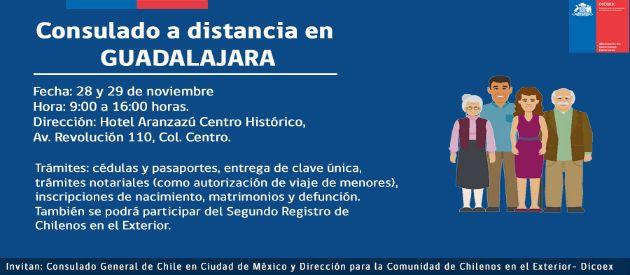 Chilenos en México se beneficiarán con Consulados a Distancia