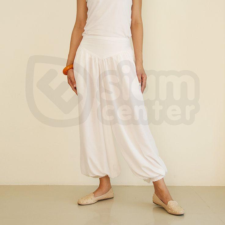 White Aladdin Pants. Buy Cheap Yoga Pants. We ship worldwide. #yogapants #yoga #namaste