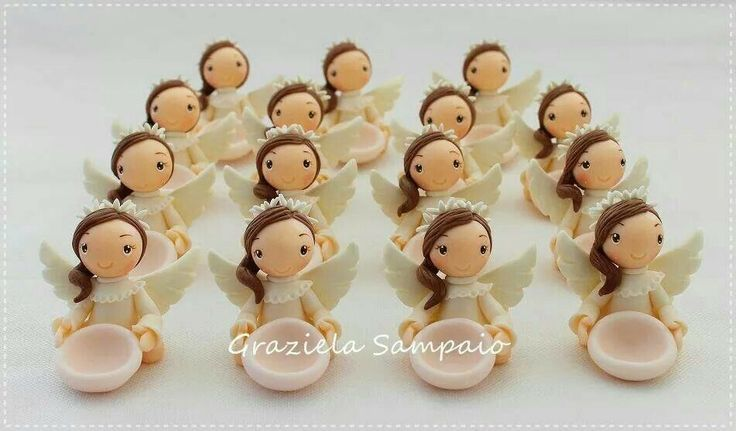 Angelitas para bautizo