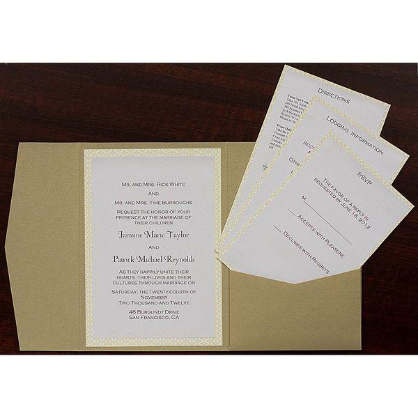 INEXPENSIVE INVITE POCKETS Bronze Brown Metallic Pocket Invitation Card, A7 Himalaya