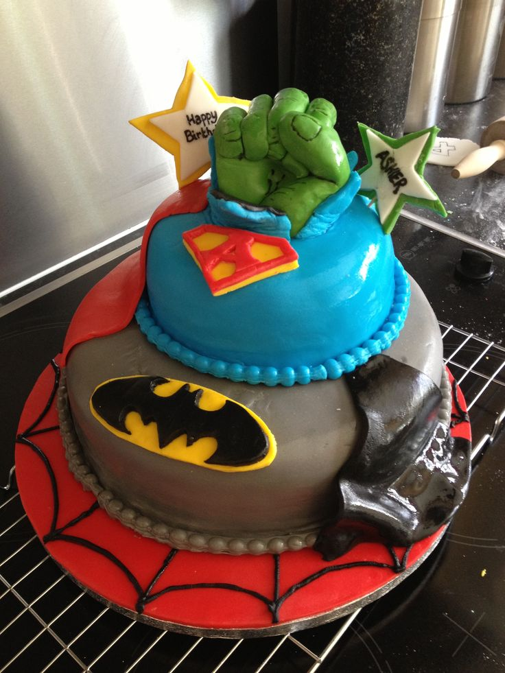 10 Best Georges Birthday Cake Images On Pinterest Super Hero