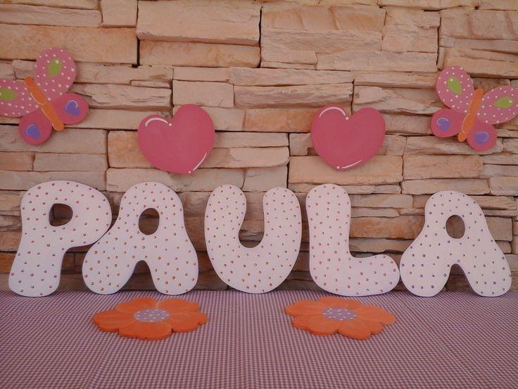 Letras de madera decoradas para habitaciones infantiles pinterest nursery letters - Letras decoradas infantiles ...