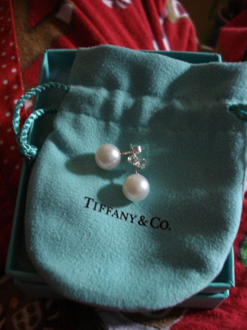 Tiffany pearl earrings..for any occasion.  (Note: I wear these every day, no matter what.  Cheryl)