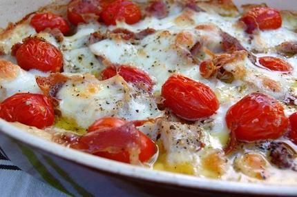 Filets de poissons gratinés à l'italienne