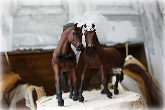 Horse Wedding Cake Topper-Western Cake Topper-Country Western Cake Topper-Cowboy Cake topper by MorganTheCreator on Etsy https://www.etsy.com/listing/105997467/horse-wedding-cake-topper-western-cake