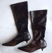 steve madden brown kitten heel simari boots 6 j crew style