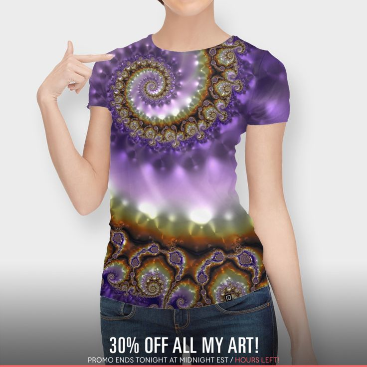 Discover «Spiraling Dream», Exclusive Edition Women's All Over T-Shirt by Diana  Coatu - From $44 - Curioos