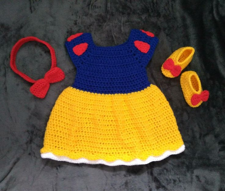 Excited to share the latest addition to my #etsy shop: Snow White Crochet Baby Costume        www.etsy.com/shop/CroShei