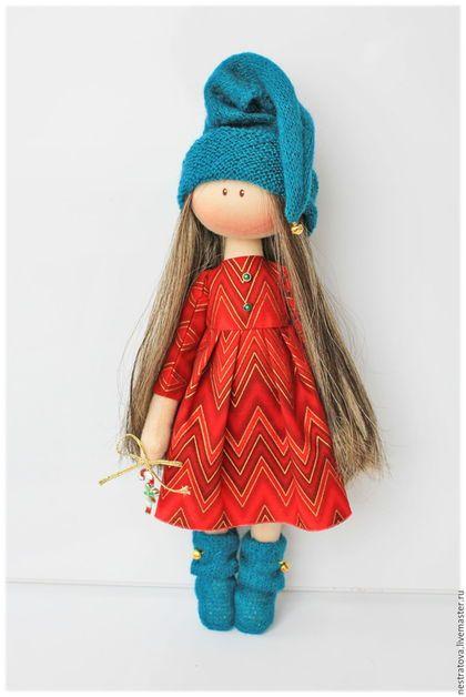 Коллекционные куклы ручной работы. Новогодняя гномочка.. Олеся. Ярмарка Мастеров. Подарок, подарок подруге, хлопок