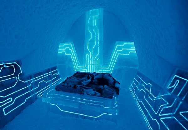 Wonderful IceHotel Bedroom Lighting at Amazing IceHotel Design in Jukkasjärvi, Small Village in Norrbotten County, Sweden – Ben Rousseau