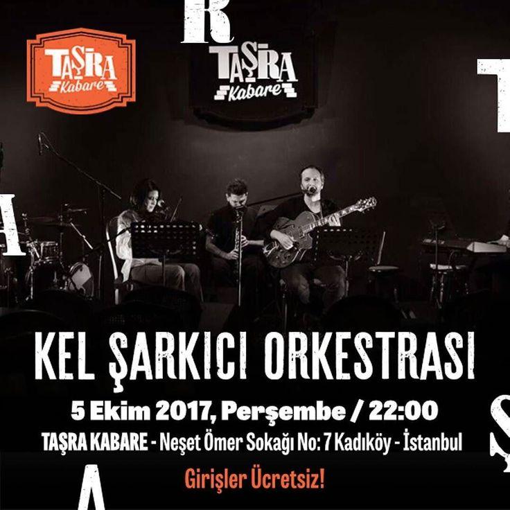 Perşembe gecelerinin vazgeçilmezi Kel Şarkıcı Orkestrası her perşembe sizinle buluşmaya devam ediyor. 70'lerden günümüze uzanan repertuvarlarıyla Kel Şarkıcı Orkestrası bu akşam Taşra Kabare sahnesinde Girişler Ücretsiz Taşra'da Buluşalım  #TaşradaBuluşalım #TaşraKabare #konser #müzik #music #kabare #cabaret #tiyatro #theatre #food #Kadıköy #canlımüzik #istanbul #ücretsiz #istanbul