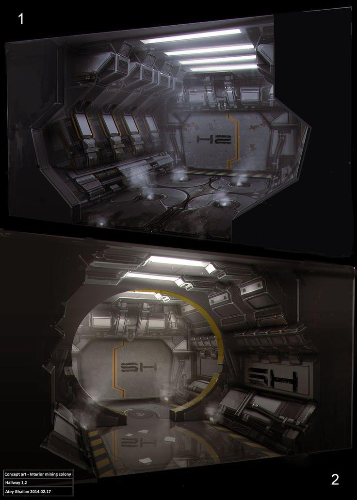 Hallway Concepts 1-2, Atey Ghailan on ArtStation at…