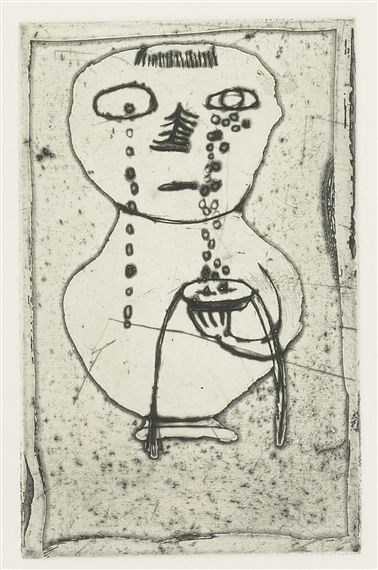 Louise Bourgeois, Vase Of Tears Circa 1945  Soft ground etching, engraving, and…