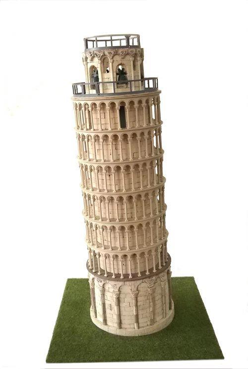Maqueta de piedra de La Torre de Pisa. CUIT 3653. Hecho en España, IndalChess.com Tienda de juguetes online y juegos de jardin