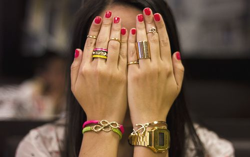 Gold & Neon Accesories.