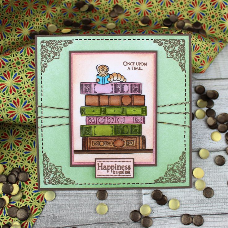 Card created using For the Love of Stamps by Hunkydory Crafts A Good Book Stamp Set
