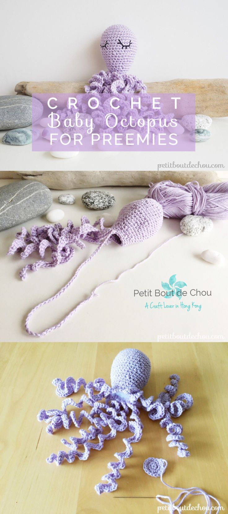 Have you already heard about these little crochet octopus for preemies? I have tried to gather here all useful links and information on that amazing project around the world.