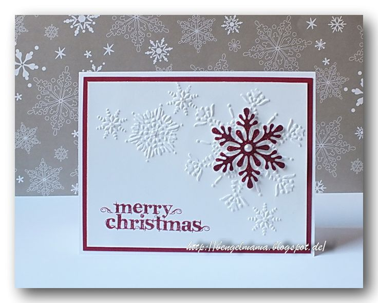 Handmade christmas card clean and simple look red for Handmade christmas cards