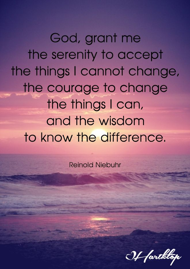 The serenity prayer                                                                                                                                                     More