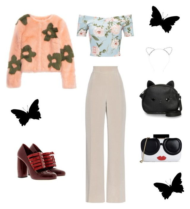Spring in Shrimps by creaturesoftweed on Polyvore featuring polyvore fashion style Miss Selfridge Shrimps MaxMara Miu Miu Loungefly Alice + Olivia Lipsy clothing
