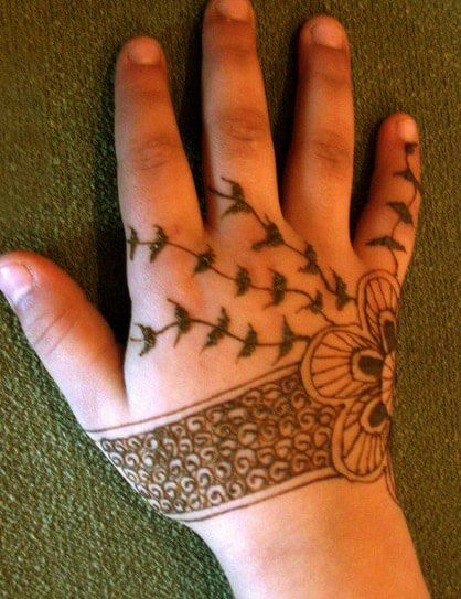 eid mehndi design for kids