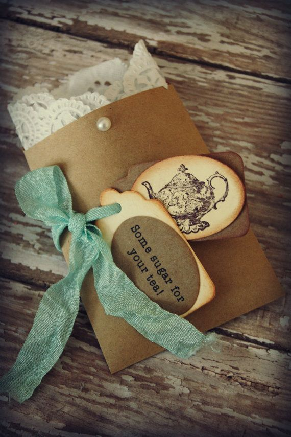 Tea party favor/ wedding favor/ bridal shower by ShabbyCountryChic