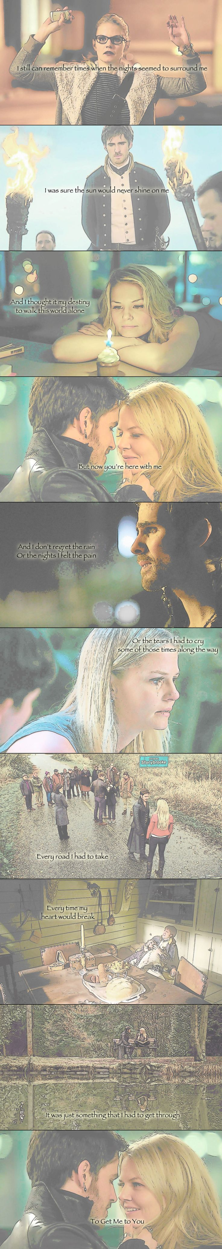 """Captain Swan- """"To Get Me to You""""........... I WISH I HAD THE SOBBING EMOTICON RIGHT NOW BUT I'M ON A COMPUTER"""