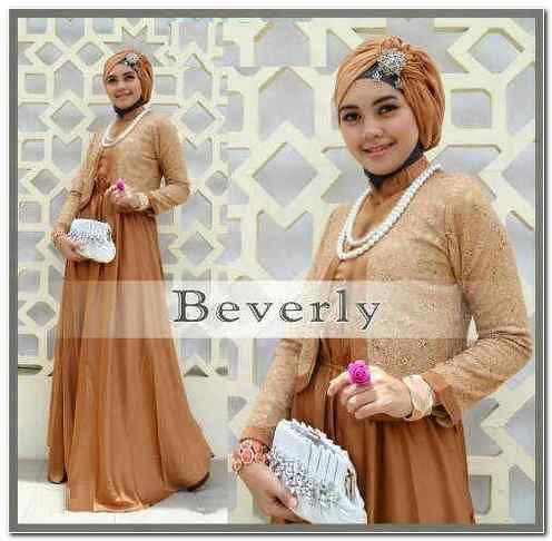 Beverly Set Hijab (Coklat)  Bahan: Matt JERSEY Maxi+pashmina+Blzer Brukat Import