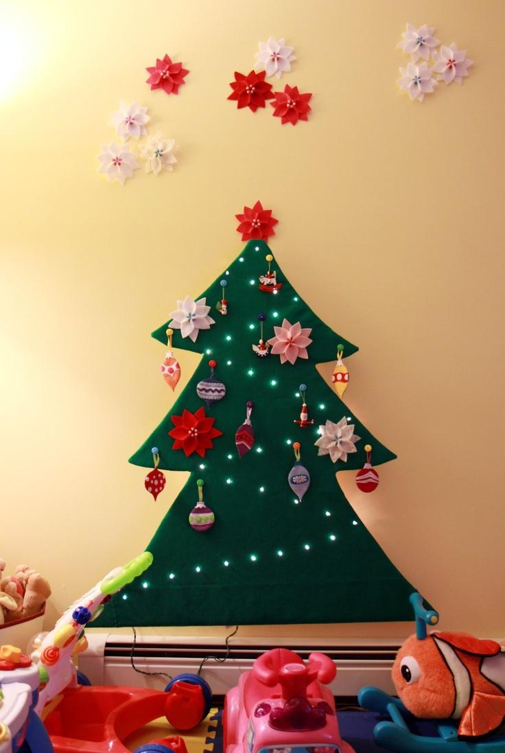 Toddler Safe 2-D Felt Christmas Tree tutorial || Tranquility Spot