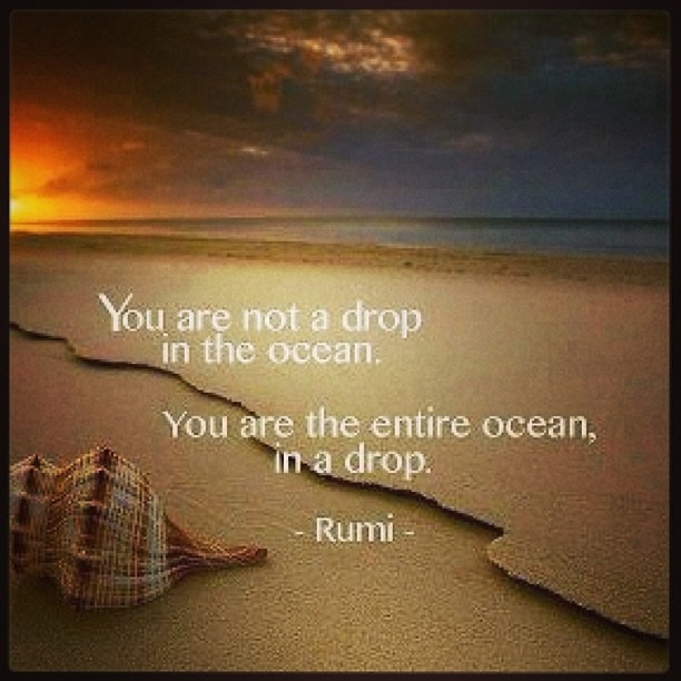 Rumi Quote & Sunset