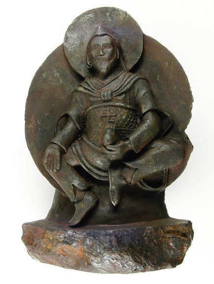 The original Iron Man.  Stolen from Tibet by Nazi's in 1938, the statue is made from ataxite, a rare class of iron meteorite.  It depicts the Buddhist god-king Vaisravana and links the Buddhists to the preceding Bon. The swastika was used by ancients as a symbol of good fortune.