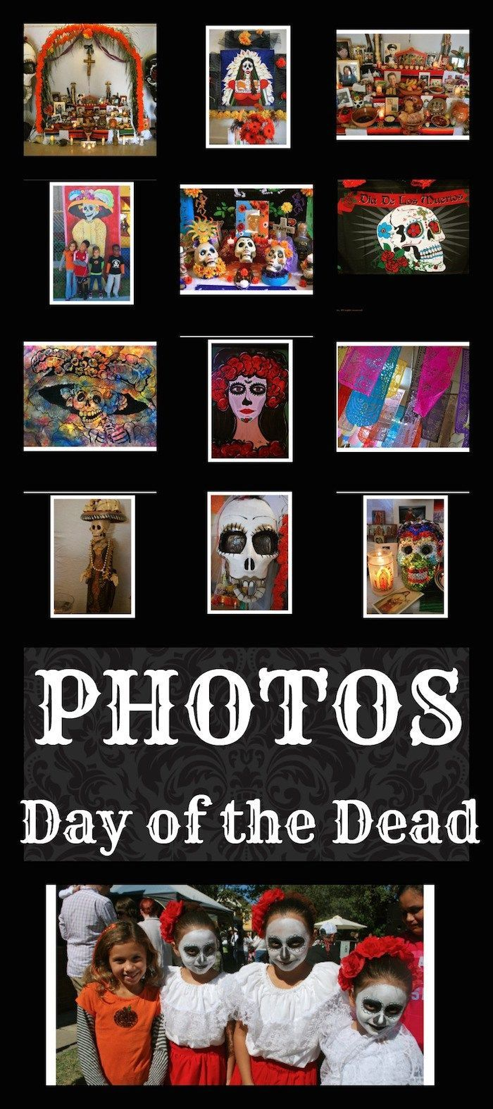Day of the Dead Pictures- beautiful slideshow of Dia de los Muertos. Great learning tool and resource for kids learning about Mexican culture or for Spanish class.