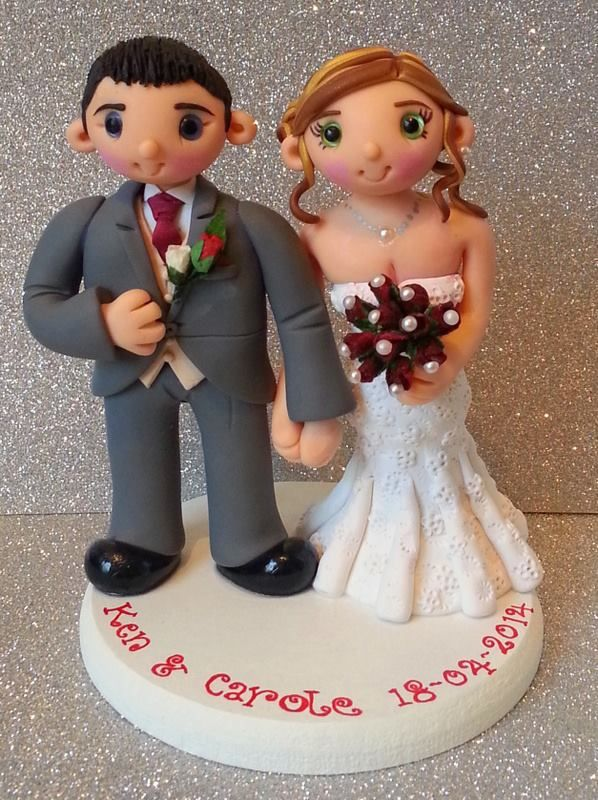 Personalized wedding cake topper by Tinylove Toppers http://www.tinylove-wedding-cake-toppers.co.uk/         https://www.facebook.com/TinyloveToppers