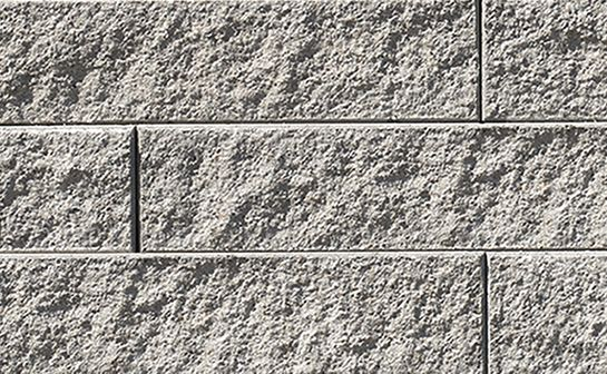 Proterra Natural Textured Wall by Oaks Landscape Products. Appropriate for freestanding, gravity and geosynthetic-reinforced walls.
