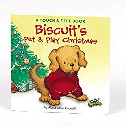 Looking for a great Christmas book for your toddler? Biscuit's Pet & Play Christmas will be perfect for your little one! 5 Toddler Tested and Wonderful Christmastime Books ~ White Sands and Cool Breezes  #Christmas #Books #Toddler