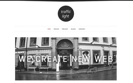 Web Agency Traffic Light in Stockholm, Sweden.