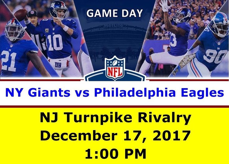 NY Giants vs Philadelphia Eagles NFL (Dec 17) - 2 Tix Package Lower 100 Level #NYG #NewYorkGiants #Giants #NFL #Eagles #Philly #philadelphia #tickets #event #sport #football #MetLife #stadium #eBay #StubHub
