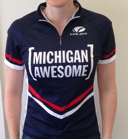 Michigan Awesome women's biking jersey